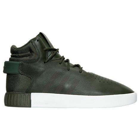 Green adidas Tubular Invader Casual Shoes