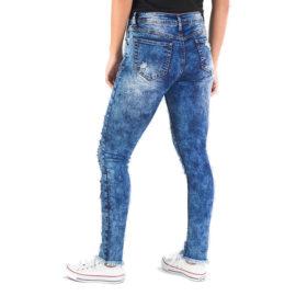 Women's Red Fox Distressed Fray Hem Skinny Jean