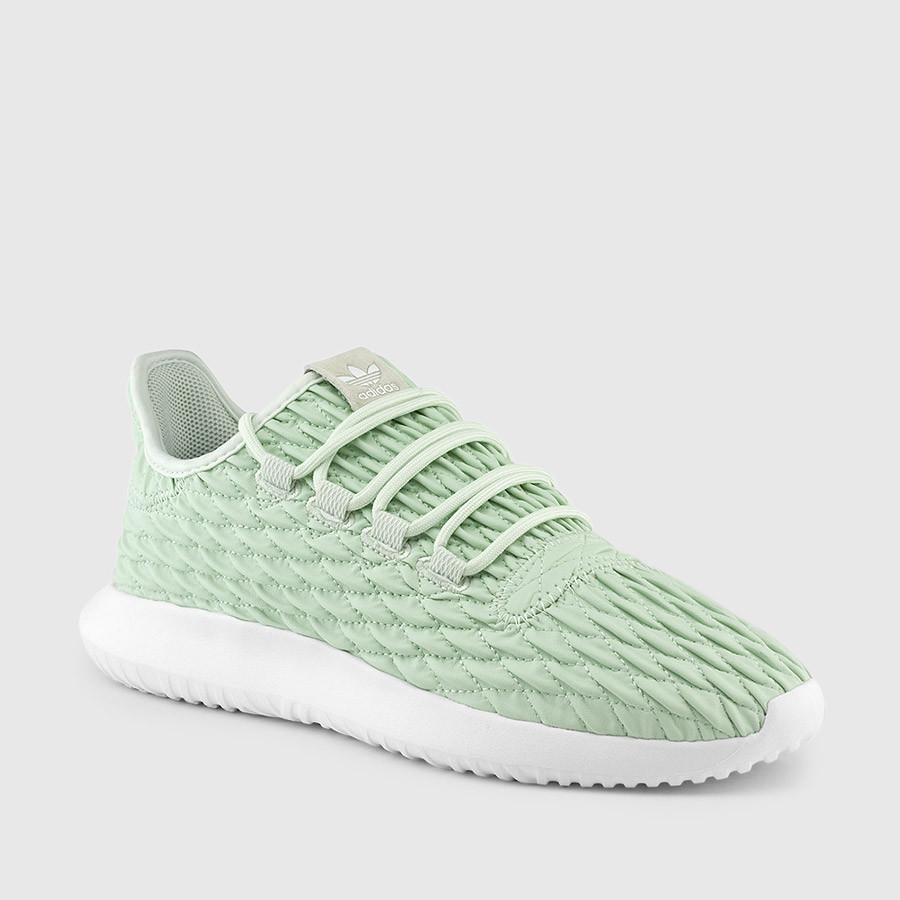 Women's Adidas Tubular Shadow Green Shoes $59.97